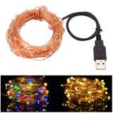 10m Рождество String освещения DC5V USB светодиодный индикатор строки меди