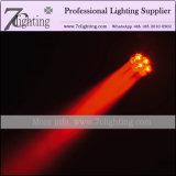 Bewegliche Hauptminiträger-Beleuchtung 7PCS 12watt der Summen-Wäsche-LED