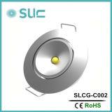 3W redondeó la iluminación llevada del gabinete del LED con precio de fábrica