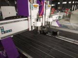 Cer-doppelte Hauptholzbearbeitung CNC-Fräser-Maschine mit Drehachse