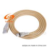 Cavo di dati di carico Braided di nylon in lega di zinco Type-C2.0 per Samsung