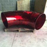 Tamanho grande Norma ASTM A Vermelho o cotovelo de 90 Graus