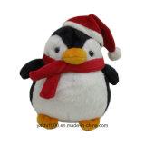 Soft de navidad de pingüinos de peluche juguete con bufanda