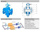 Epoxidschichts-duktiles Eisen-Schwerpunkt-Ventil (ZL47)