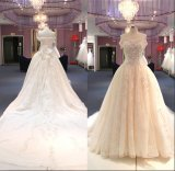 outre de l'épaule le grand train perle la robe nuptiale Wgf149 de robe de mariage de Ballgown