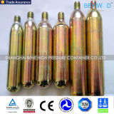 Mini cartucho de acero caliente 8g 12g 16g 25g 33G del CO2 para el anillo de la natación del arma de Paintball