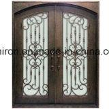 芸術およびクラフトのハンドメイドの二重装飾的な鉄のドア
