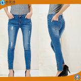 Senhoras novo estilo de moda jeans Skinny Jeans Legging de extensão da perna
