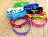 Silkscreen Silicone Bracelet per Advertizing Gifts