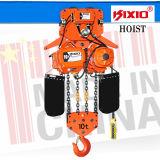 Élévateur à chaînes électrique à crochet de 10 tonnes avec le moteur adapté par mémoire tampon