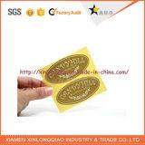 Collant auto-adhésif estampé personnalisé d'impression d'étiquette de papier de feuille jaune