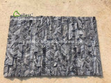 Pietra di marmo nera di qualità superiore della sporgenza della pietra della coltura per le pareti della caratteristica