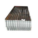 Dx51d DX52D barato telhas de zinco onduladas folhas de metal