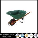 Carrello di trasporto della riga della barra di rotella della carriola Wb6601b del carrello dello strumento di giardino