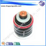 A isolação de alta tensão de /XLPE/corrugou Al/PVC e bainha do PE/cabo energia eléctrica