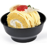 Cuvette en plastique de crême glacée de cuvette avec la catégorie comestible de vaisselle de couvercle