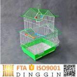 中国の緑の折る金属線の鳥籠