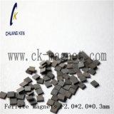 Ck에 의하여 소결되는 알파철 자석 F2.0*2.0*0.3mm