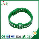 Wristband del silicone di pallacanestro, braccialetto registrabile della gomma di sport