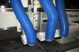 Três cabeças de corte pneumática Multi Workstage Router CNC de trabalho da madeira