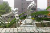 tubulação de fumo de vidro desobstruída do cachimbo de água de 15cm