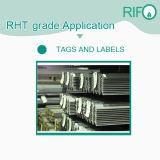 Les étiquettes de codes à barres pour haute température, l'adhésif autocollant du papier d'application