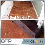Rojo de mármol del azulejo del piso para el Lobby / Suelos / baño / cocina con Shinning Superficie
