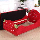 Mobilia della camera da letto della ragazza, base di modello dei capretti della fragola, singola base dei bambini