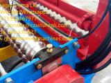 Rodillo de acero del color de la onda que forma la máquina