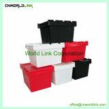 30L movendo Crate Caixas Abertas de Armazenamento de plástico com tampas dobráveis