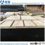La madera de grano/papel de melamina color sólido frente Slatwall