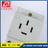 Corta-circuito modular 16A 25A de la aprobación MCCB MCB RCCB de RoHS del Ce de los enchufes 10-16AMP de los socketes cuatro del carril del estruendo AC30