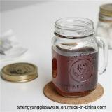 La fabbrica direttamente fornisce alla tazza di caffè di vetro della tazza della bevanda 16oz il coperchio del metallo