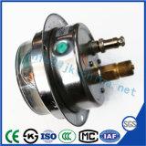 Ytnxcの高品質のステンレス鋼が付いているオイルの満たされた衝撃の証拠の電気接触の圧力計