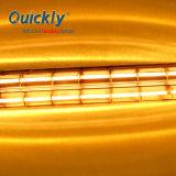 Tubo duplo de quartzo a lâmpada de aquecimento por infravermelhos para a máquina de impressão
