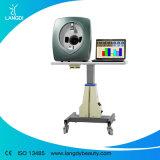 Analisador de pele facial a máquina com o software da versão inglesa e italiana