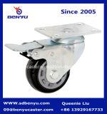 Allgemeine Aufgabe feste PU-seitliche Größengleichmontierung, die Fußrollen-Rad sperrt