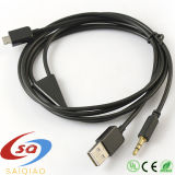 Micro USB 3,5mm Aux Adaptador do cabo de áudio do carro/ Telemóvel