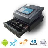 Terminal androide elegante del pago de la posición EMV del panel de tacto con la impresora térmica de 58m m