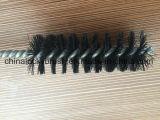 Escova de limpeza de nylon do fio do preto de madeira do punho (YY-606)