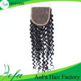 Capelli profondi della chiusura dell'onda di Aofa, estensione dei capelli umani del Virgin di Remy