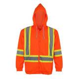 Высокая видимость мужская 100% полиэстер безопасности отражает куртка