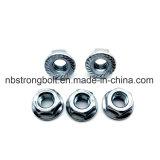 Noix Hex de la bride DIN6923 gr. 8 avec le zinc