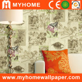Nouveau Design Decorative Wall Paper avec Animal et Floral