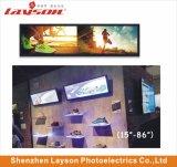 24 duim ultra Brede Uitgerekte LCD van de Staaf van de Vertoning van het Comité Signage van het Netwerk van WiFi Speler van de Van verschillende media van de Advertentie Digitale Volledige van de Hoofd kleur Monitor die Media Player adverteren