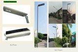 지능적인 센서 IP65 12V 알루미늄 리튬 건전지 태양 거리 LED 빛