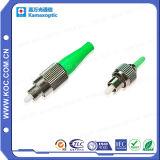 FC/APC La terminaison du connecteur du câble à fibre optique