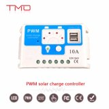 Modelo 1024 1224V 10A MPPT Controlador de Carga Solar PWM com USB