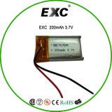 701.528 de ion de litio batería de litio de 3.7V 200mAh para el grabador con PTC PCB