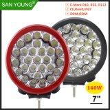 Super Brilhante de 140W LED FARÓIS LED LED de luz LED de luz de nevoeiro da Lâmpada de Trabalho